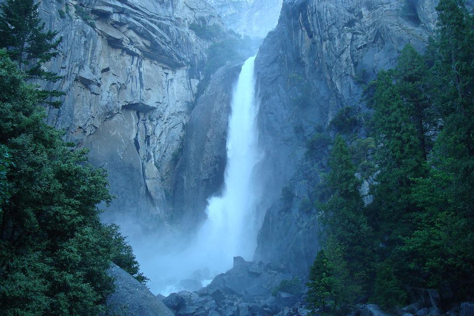Waterfall, Yosemite, Park