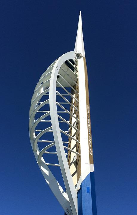 Spinnaker Tower, Portsmouth, Gunwharf Quays, Waterfront