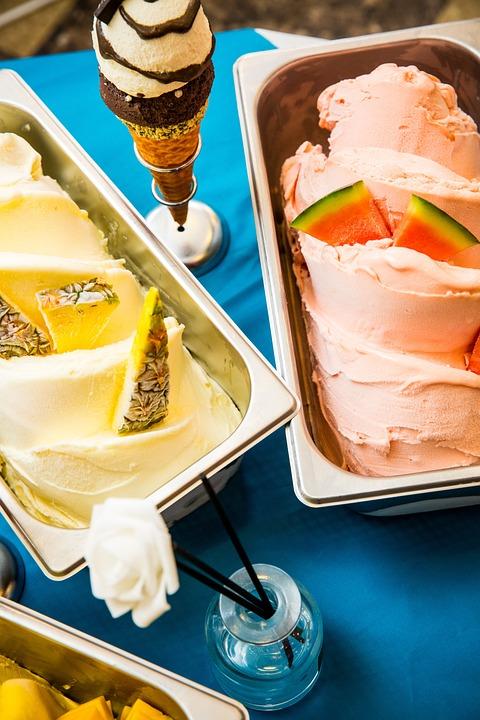 Gelato, Pineapple, Watermelon, Ice Cream, Summer, Sweet