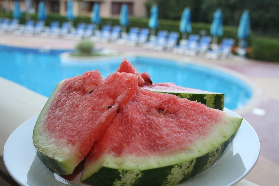 Watermelon, Pool, Food, Exotic, Fruit, Tropical, Resort