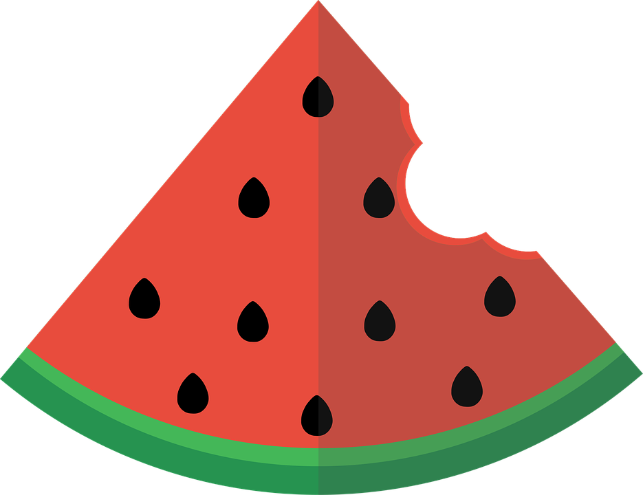 Watermelon, Flat, Slice