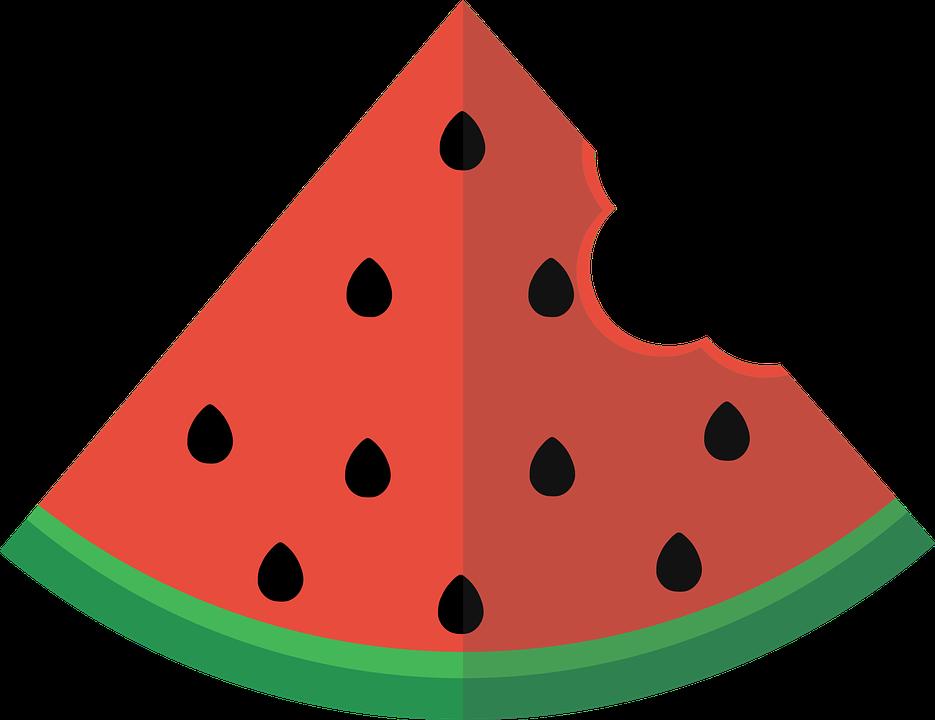 Watermelon, Flat, Slice