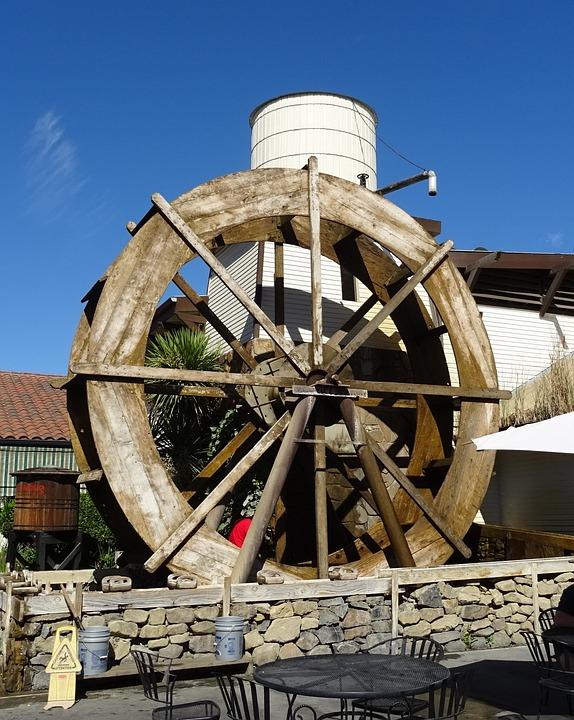 Water Wheel, Machine, Watermill, Energy, Conversion
