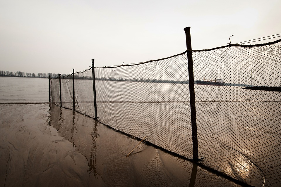 Barbed Wire, Fence, Waters, Wire, Suspension Bridge