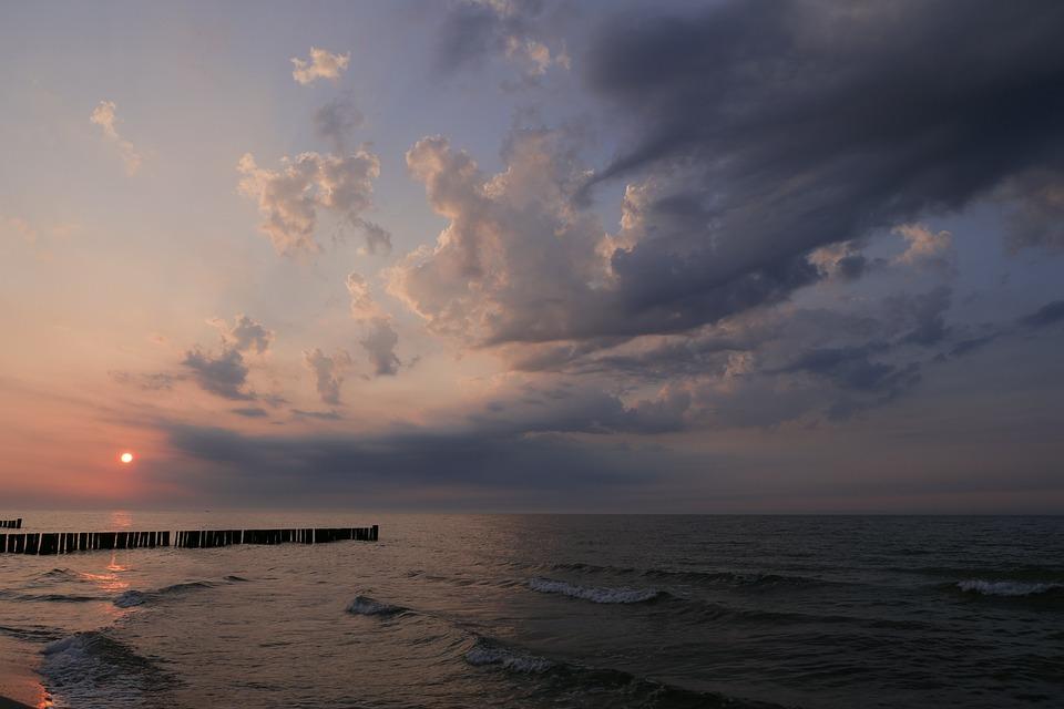 Sunset, Waters, Sea, Nature, Beach, Evening Sun