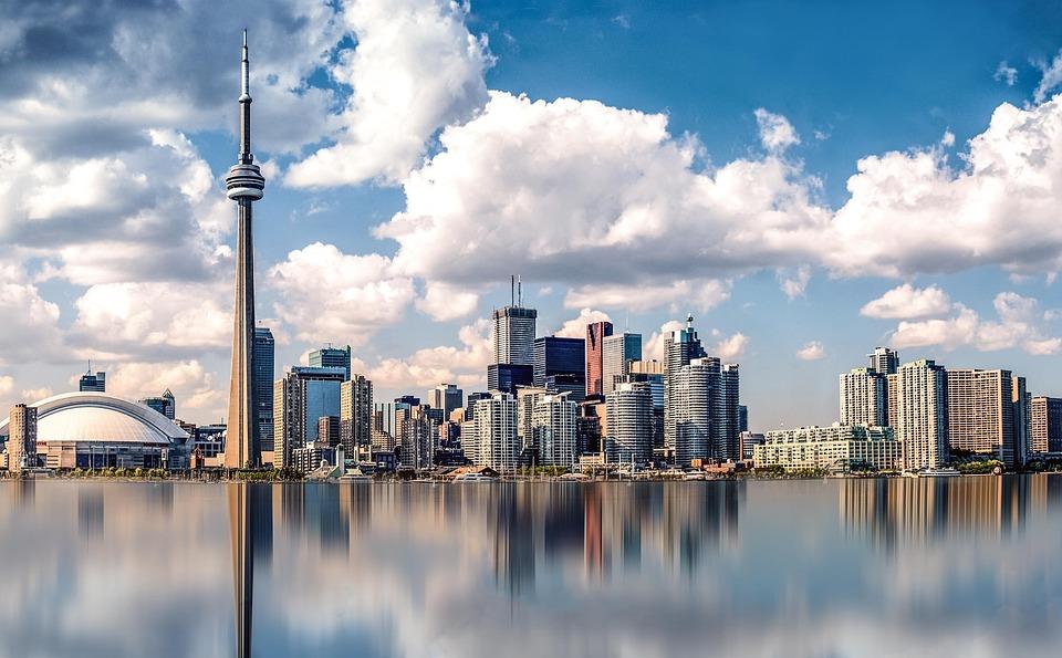Canada, Toronto, City, Panorama, Sky, Waters