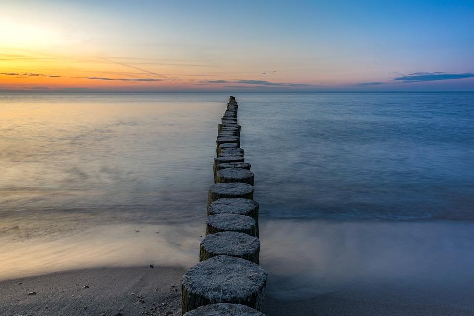 Evening, Sea, Sunset, Waters, Beach, Abendstimmung