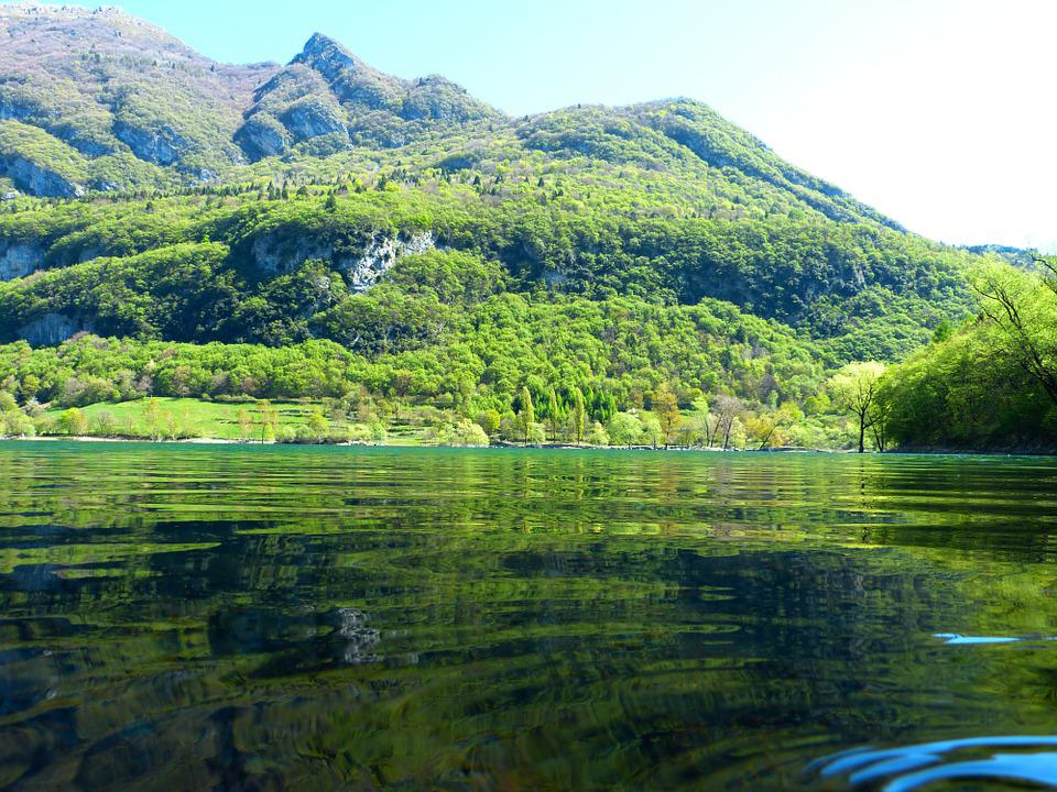 Tenno Lake, Water, Waters, Italy, Lake, Landscape