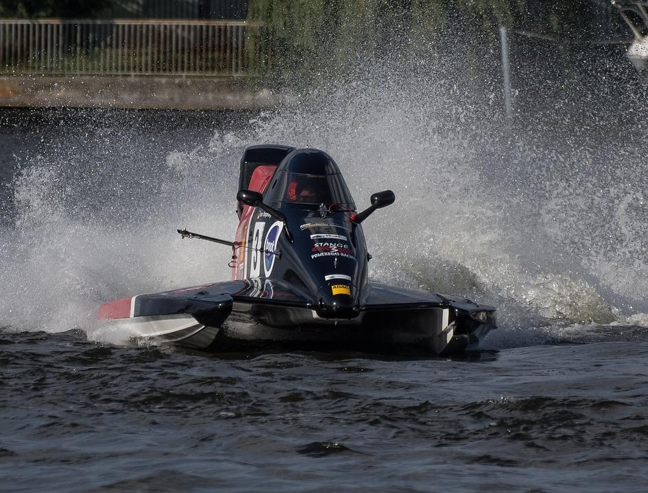 Racing Boat, Motor Boat Race, Waters, Competition, Race