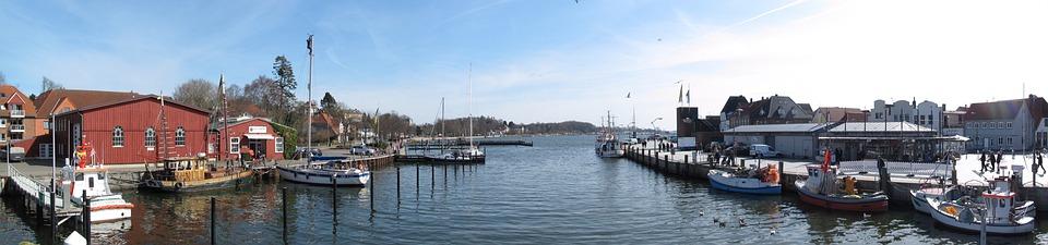Waters, Panorama, Boat, River, Panoramic Image, Sky