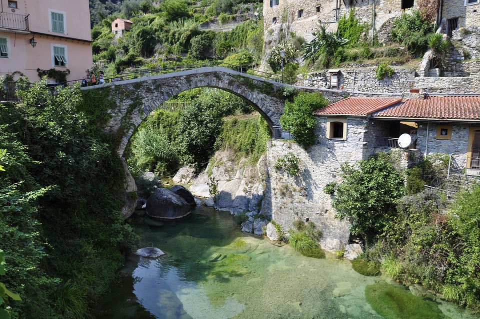 Waters, River, Travel, Bridge, Liguria