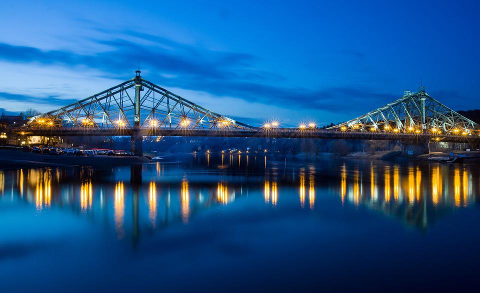 Bridge, Waters, Pier, City, River