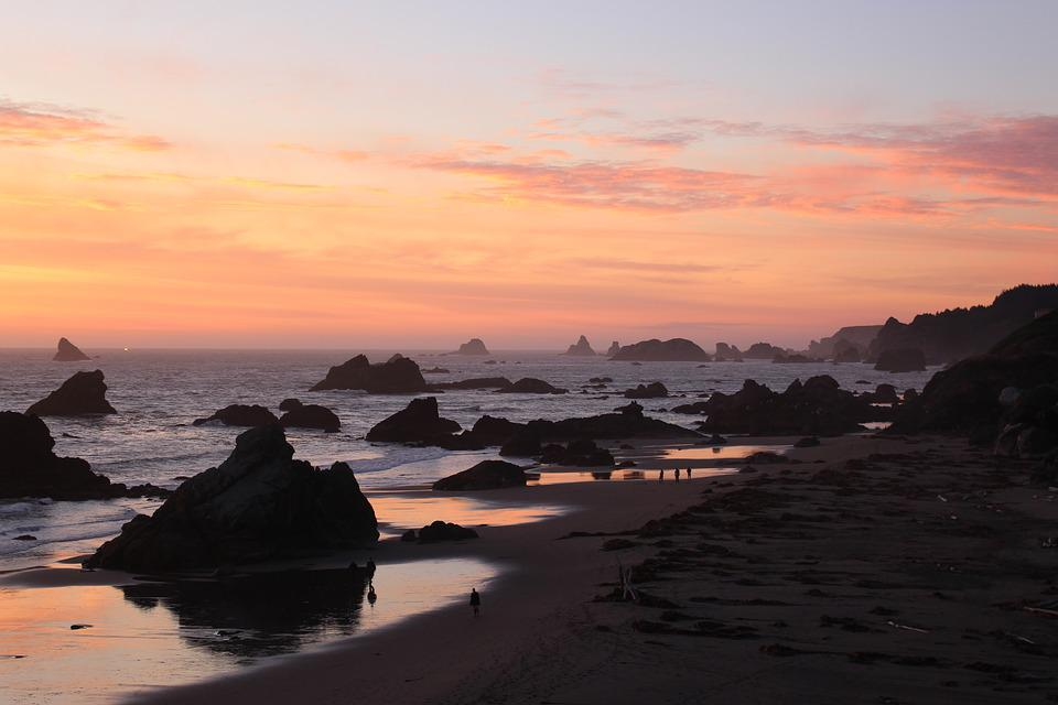 Sunset, Waters, Dawn, Dusk, Sea, Beach, Coast, Evening