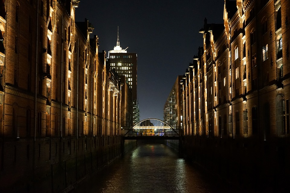 Speicherstadt, Hamburg, Architecture, Building, Waters