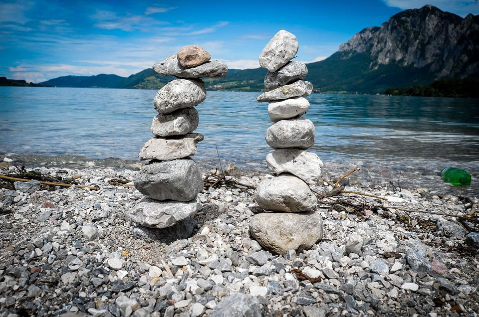 Rock, Stone, Waters, Nature, Landscape, Attersee