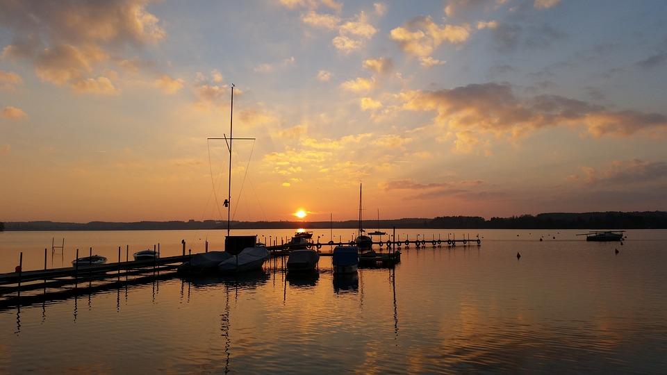 Sunset, Waters, Dawn, Reflection, Sea
