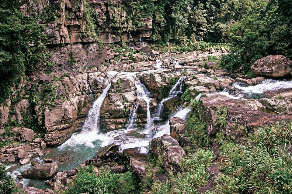 Waters, Nature, Wood, Flow, River, Falls, Rock