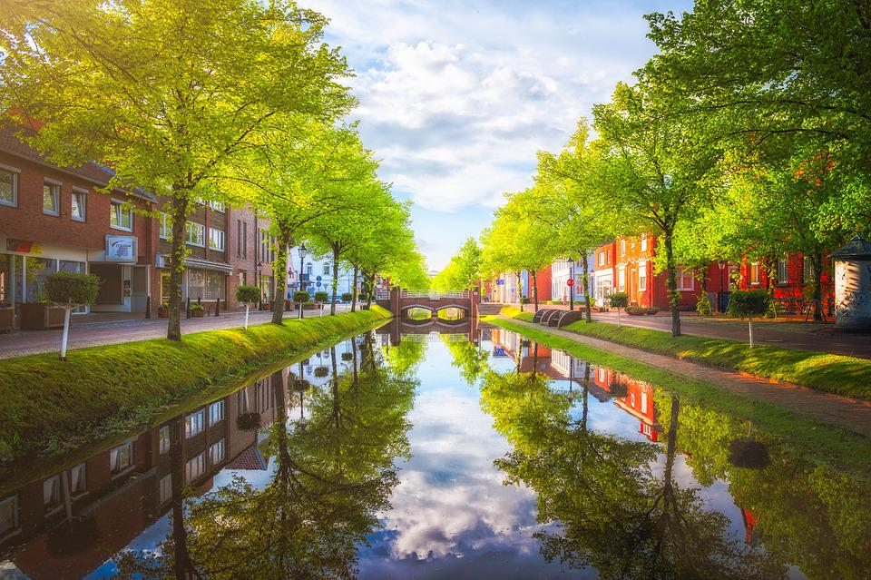 Papenburg, Channel, City, Canal, Waterway, Water
