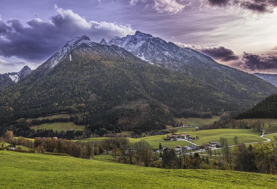Mountain, Watzmann, Sunset, Beautiful, Forest, Trees