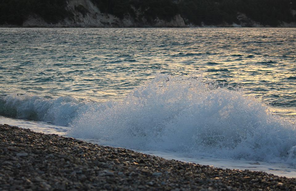 Evening, Beach, Wave, Greece, Greek, Water, Sunset