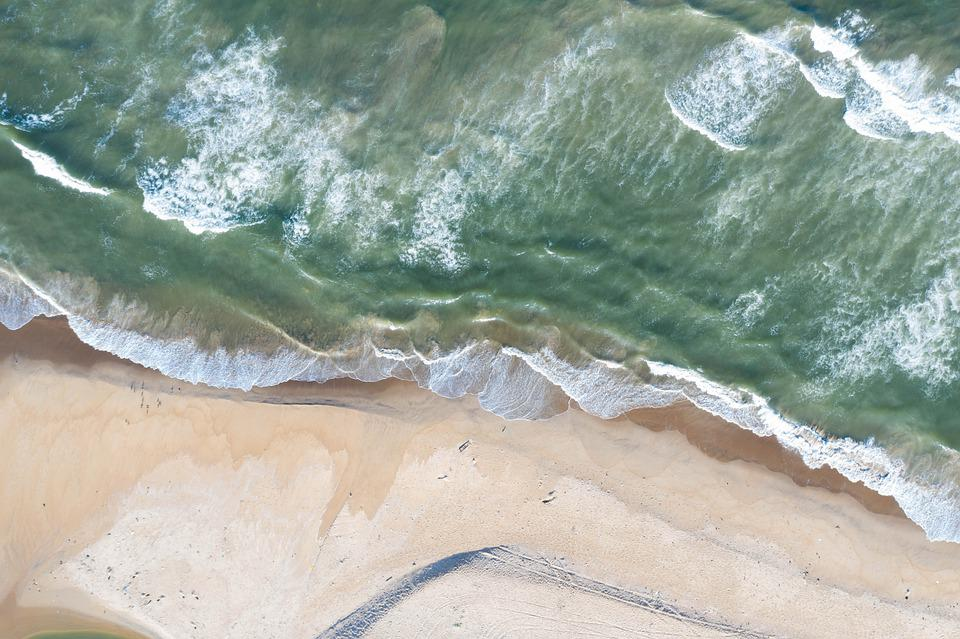 Beach, Aerial, Wave, View, Aerial Nature, Landscape