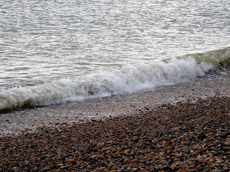 Sea, Beach, Nature, Wave, Stones, Water, Pebble