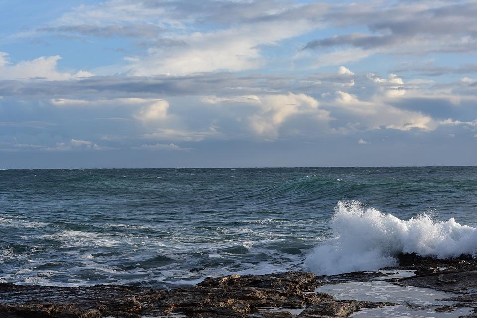 Foam, Blue, Scum, Wave Clouds, Sea, Sky, Wave, Clouds