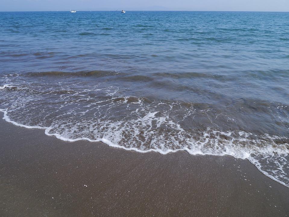 Sea, Wave, Tokyo Bay, Miurakaigan, Water, Spray, Coast