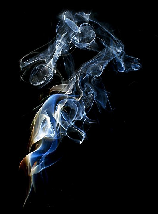 free photo wave motion dynamic burnt magic smoke burn
