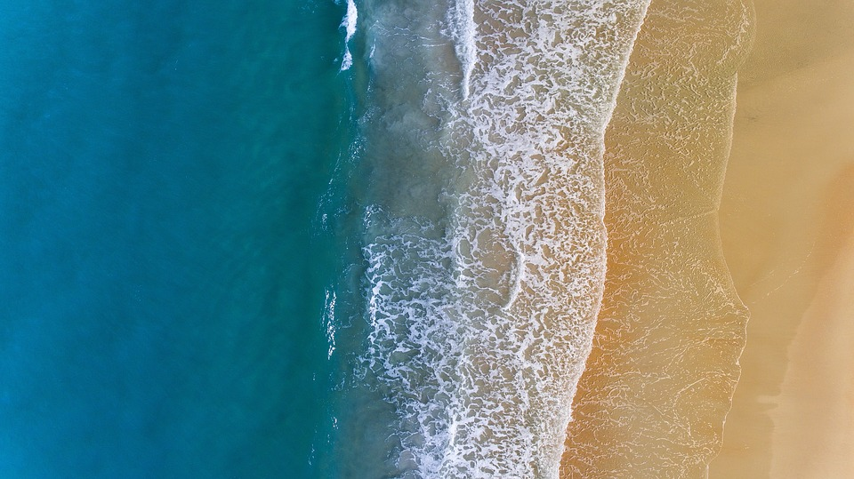 Sea, Ocean, Blue, Water, Wave, Nature, White, Sand