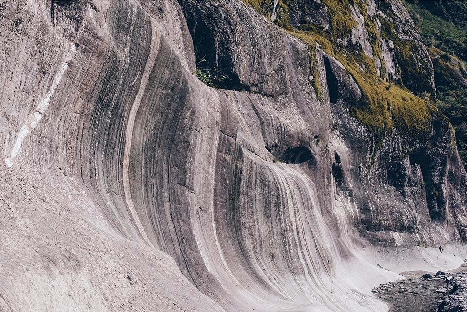Rocks, Cliffs, Wave, Limestone, Rounded, Erosion