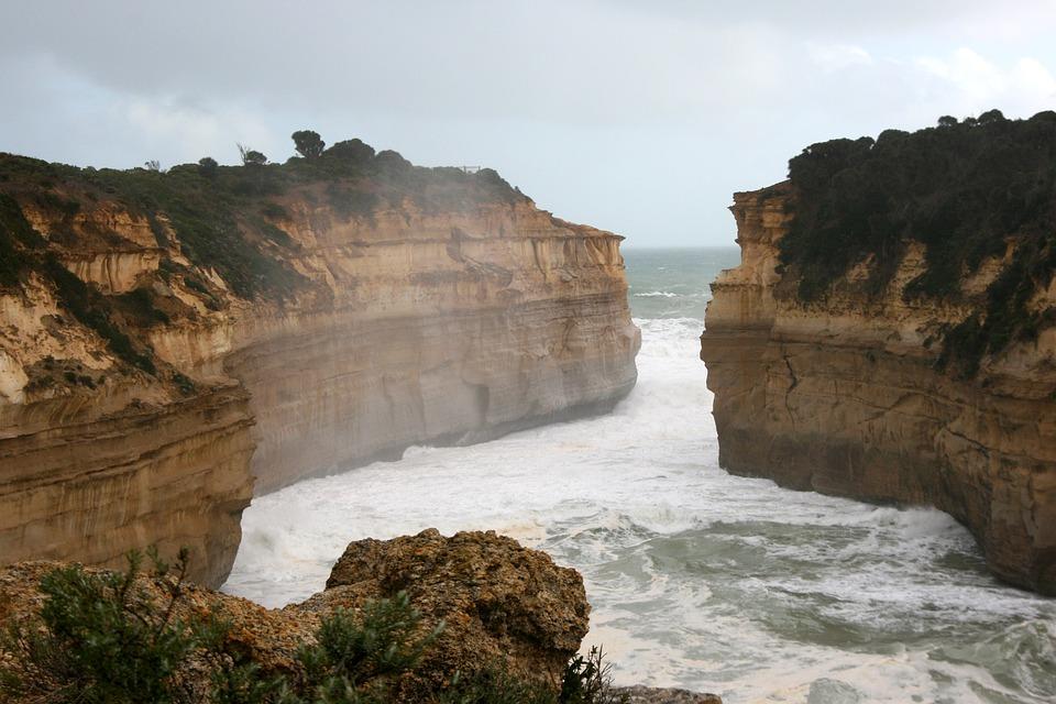 Great Ocean, Australia, Sea, Cliff, Beach, Wave