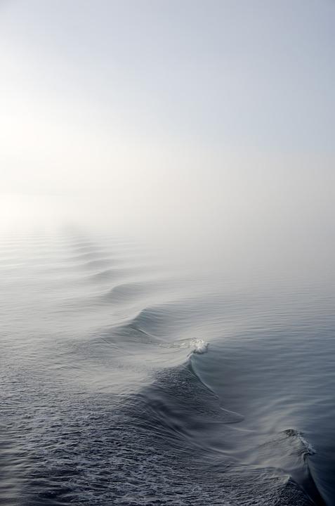 Fog, Mist, Ocean, Sea, Water, Wave, Iphone Wallpaper