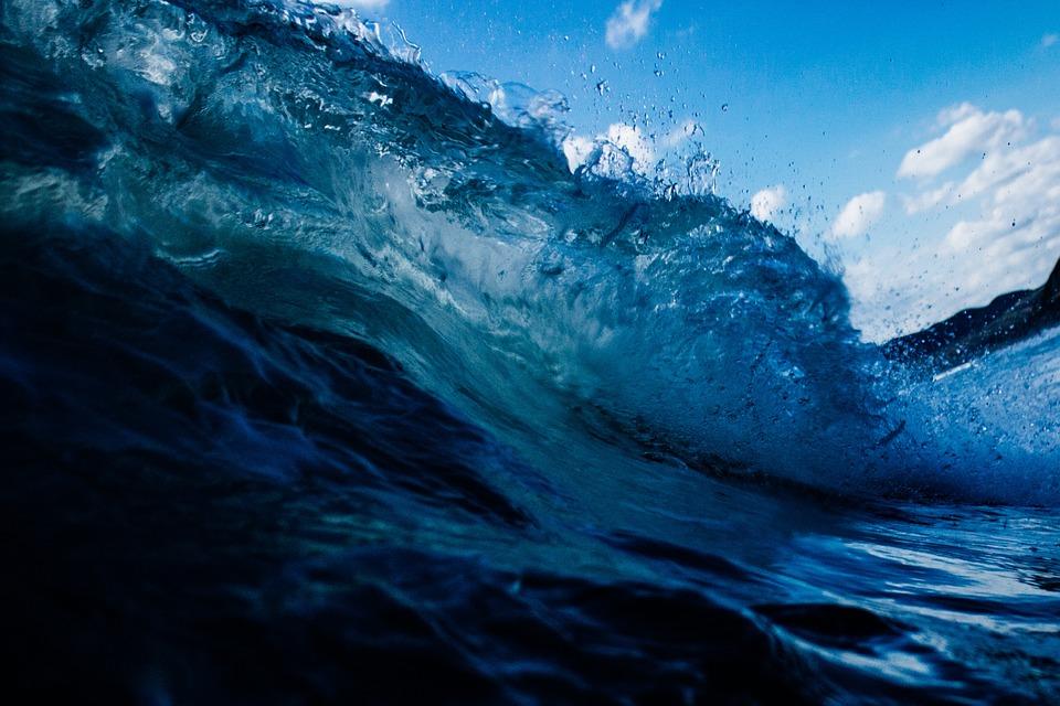 Blue, Wave, Water, Ocean, Nature, Sea, Liquid
