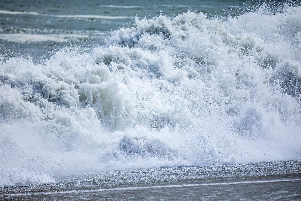 Ocean, Waves, Sea, Wave, Water, Blue, Background, Coast