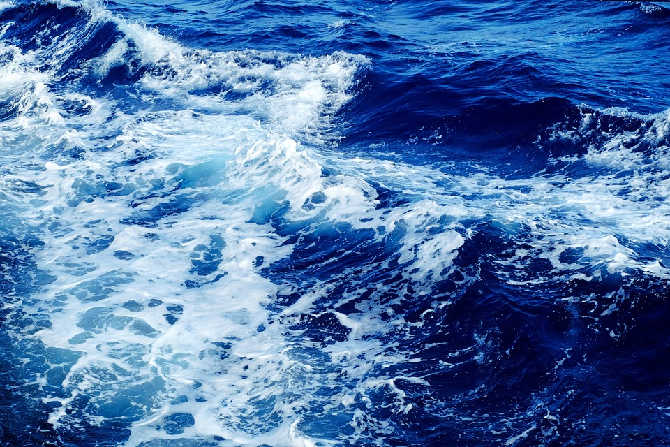 Wave, Sea, Water, Blue, Surf