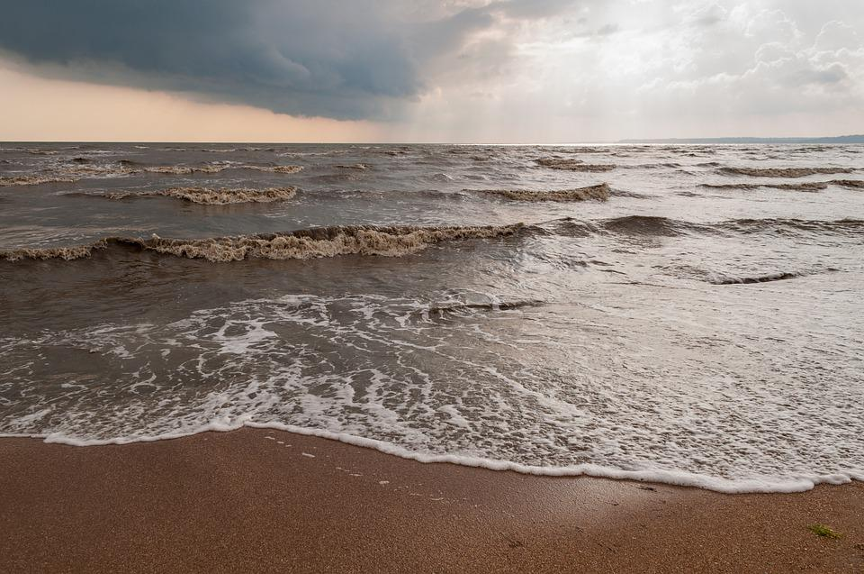 Sea, Waves, Beach, Sand, Sunset, Azov, Ukraine, Yalta