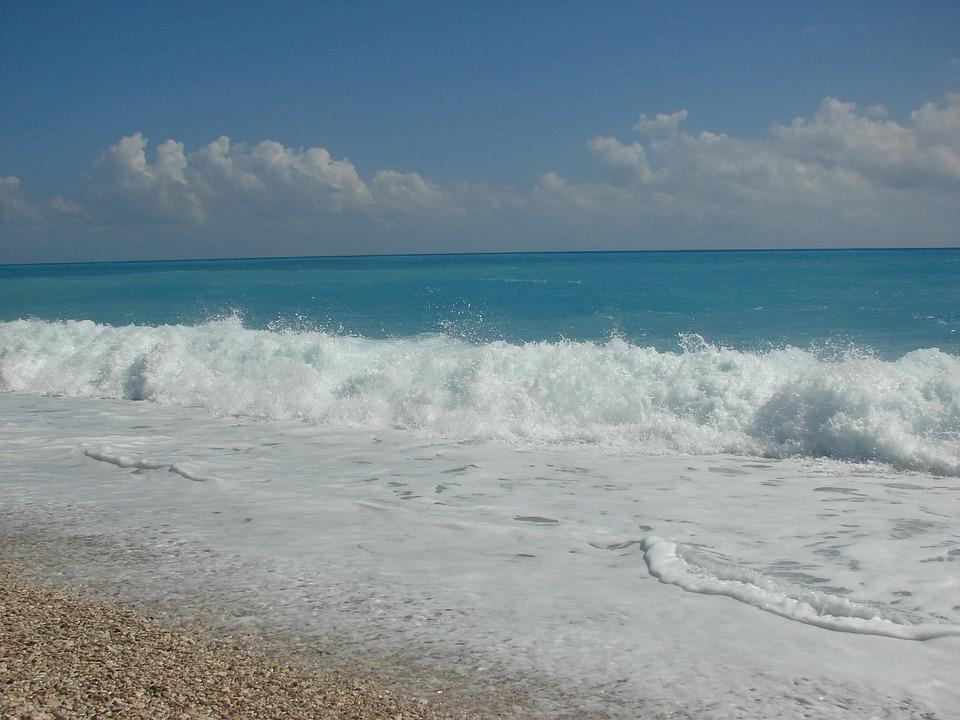 Beach, Water, Waves, Blue Water, Barahona