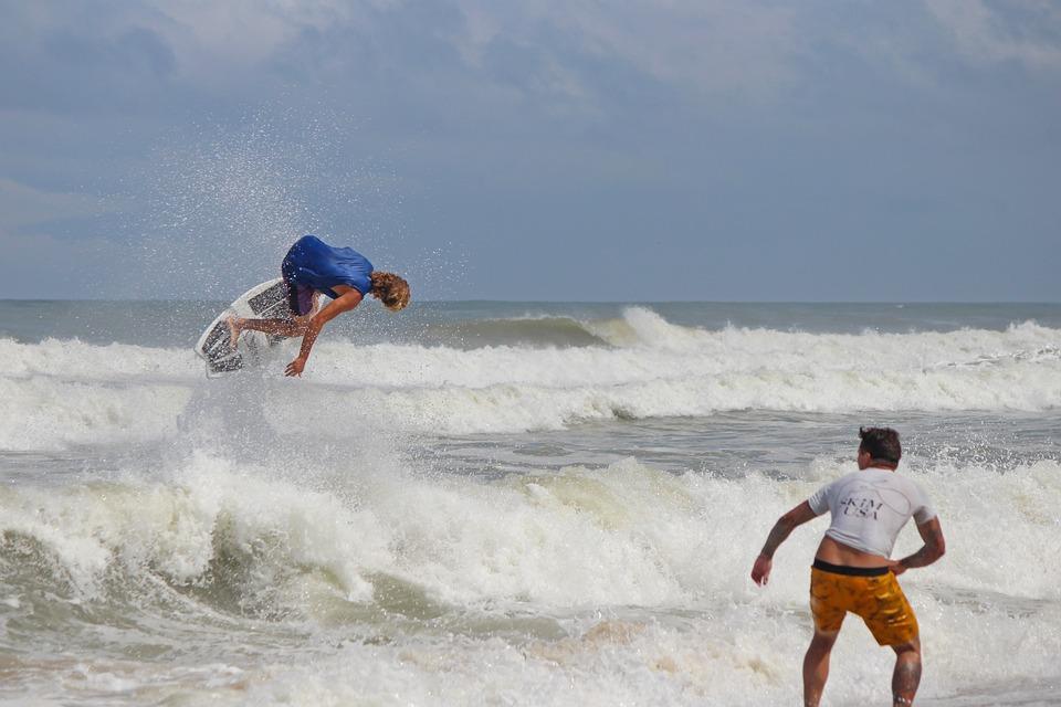Skimboard, Obx, Waves, Coast, Beach, Summer, Seaside
