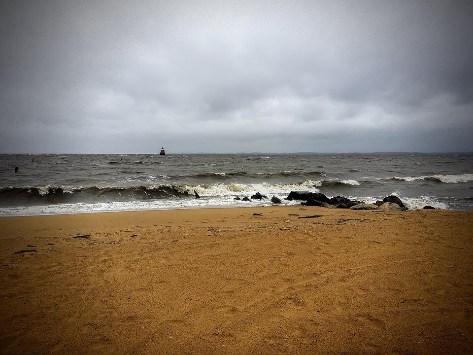 Beach, Bay, Chesapeake Bay, Coast, Waves, Sand, Surf