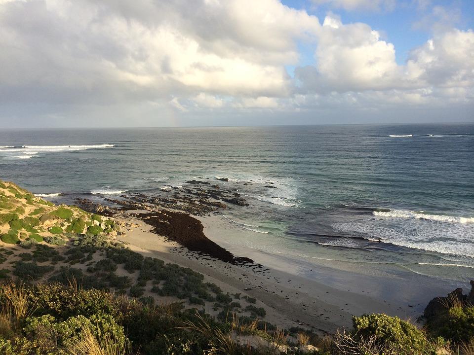 Waves, Reef, Beach, Clouds, Coast, Ocean, Sea, Sky