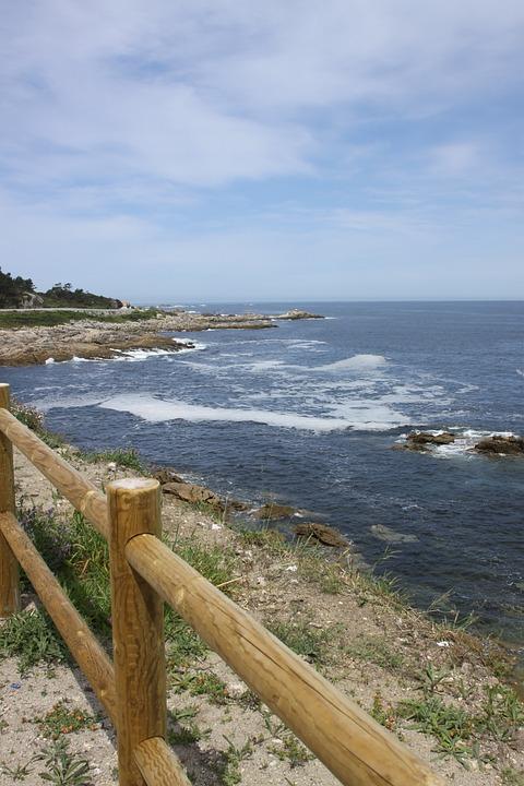 Ria, Clouds, Landscape, Sea, Water, Waves