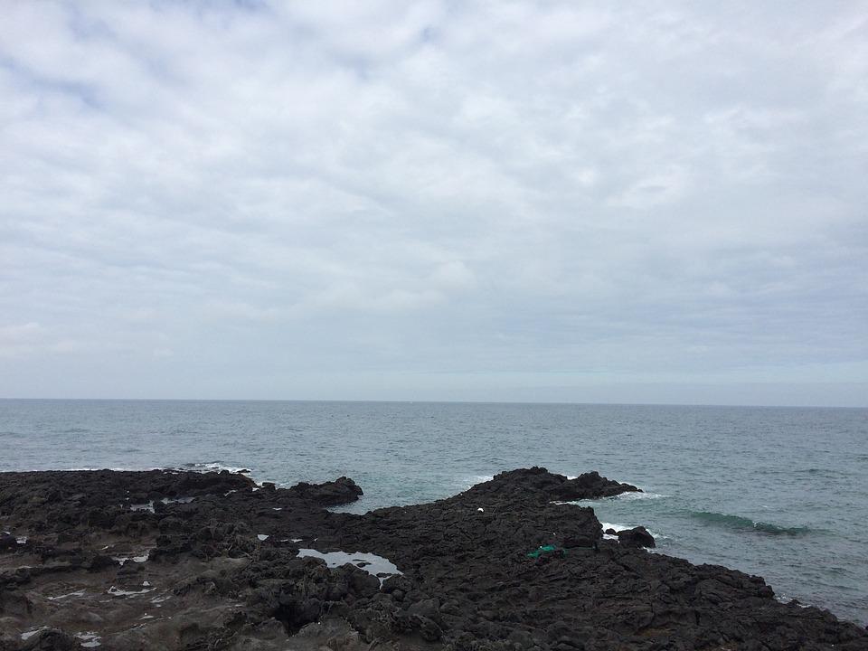 Jeju Island, Sea, Beach, Jeju Island Sea Photo, Waves