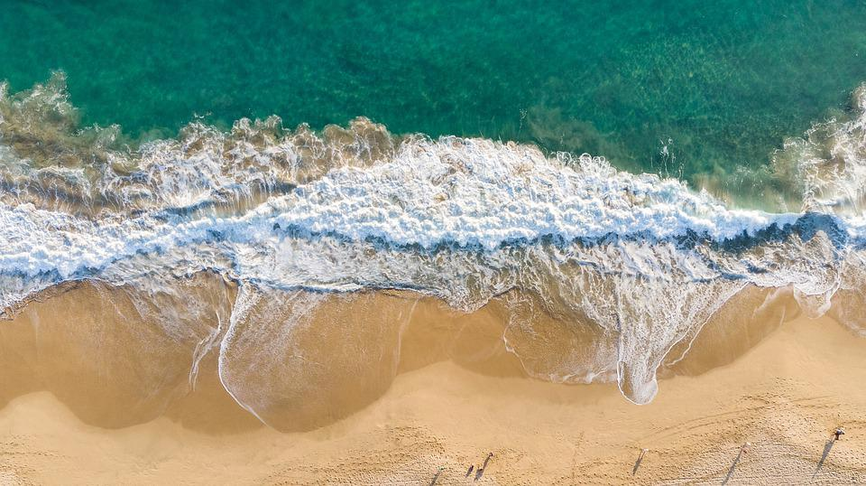 Beach, Waves, Sea, Ocean, Nature, Sand, Holiday, Blue