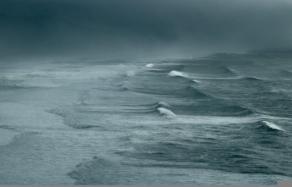 Storm, Stormy, Waves, Ocean, Pacific, Mist, Misty