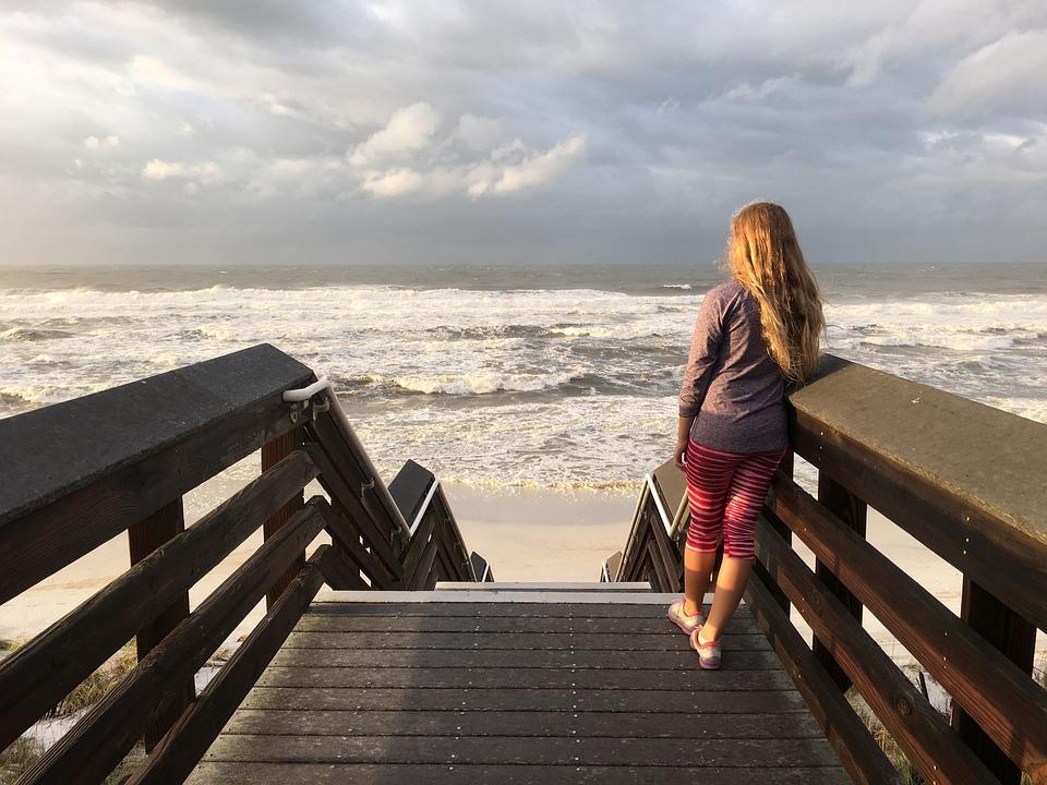 Ocean, Waves, Pensive, Thinking, Nature, Beach