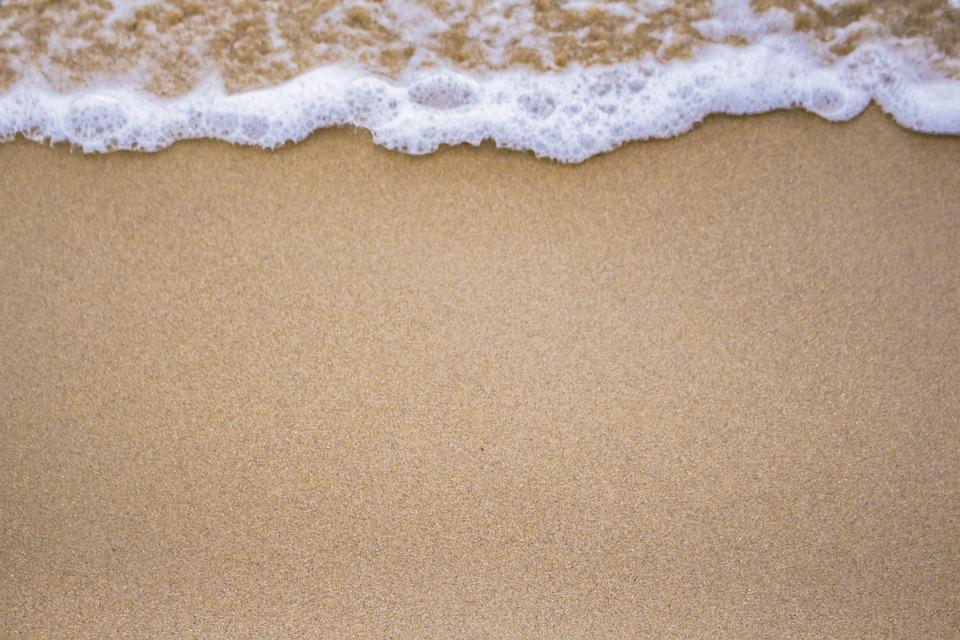 Beach, Sand, Coast, Foam, Waves, Coastline, Seashore
