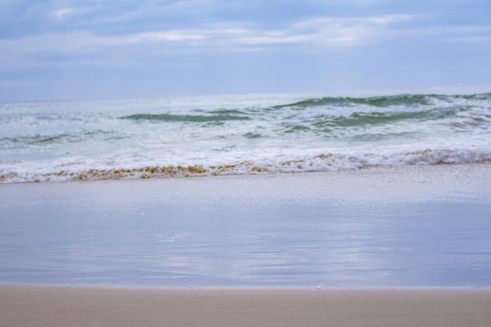 Beach, Sand, Sea, Waves, Coast, Coastline, Seashore