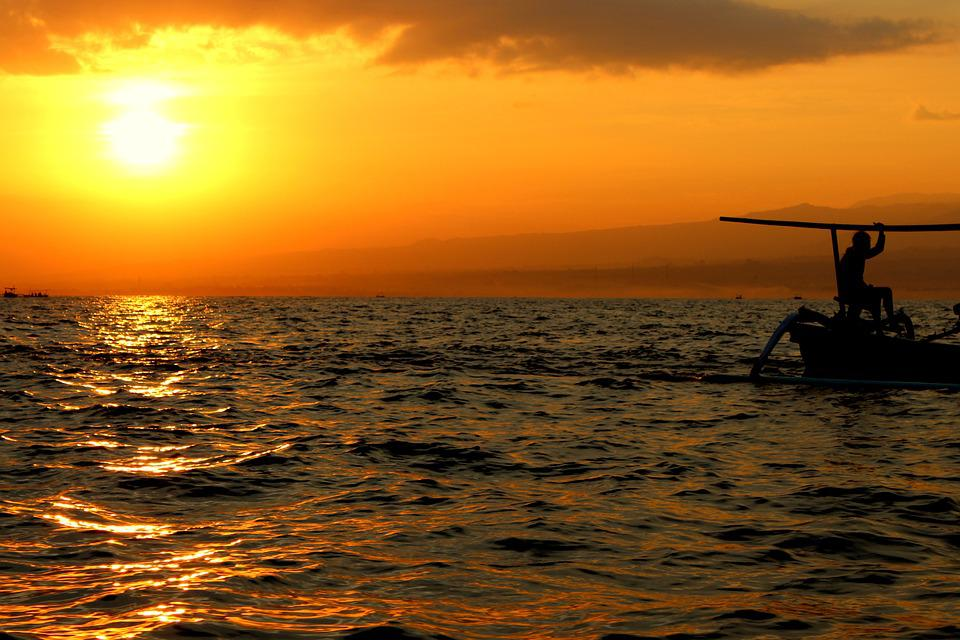 Bali, Setting Sun, Holiday, Sun, Sea, Sunset, Waves