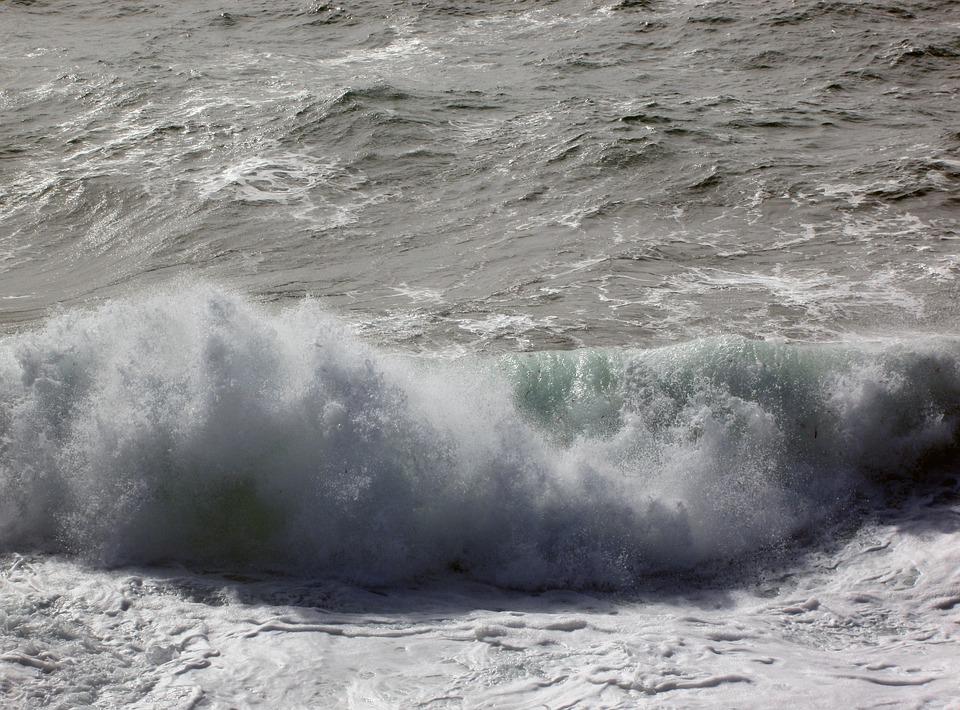 Waves, Swell, Scum, Maritime Landscape, Seascape, Shore